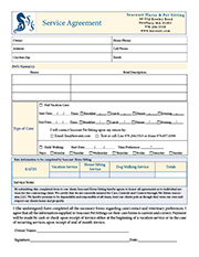 pet sitting form template elita aisushi co